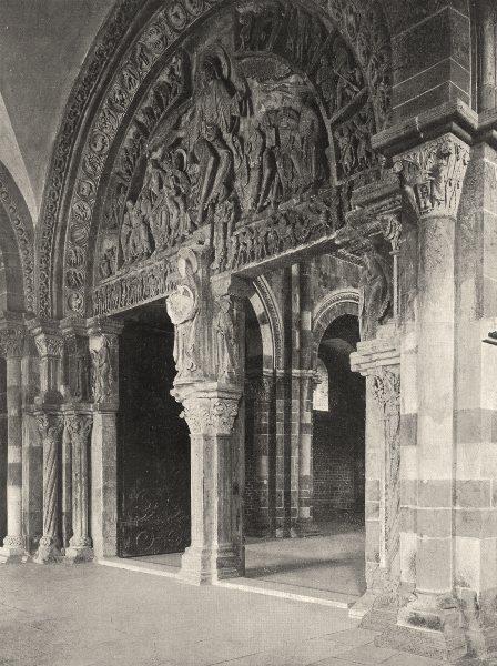Associate Product YONNE. Vézelay- La Madeleine. portail 1905 old antique vintage print picture