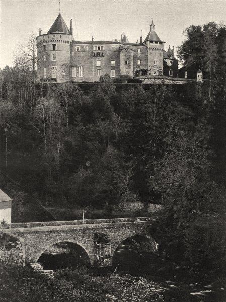 Associate Product YONNE. Château de Chastellux, côte nord 1905 old antique vintage print picture
