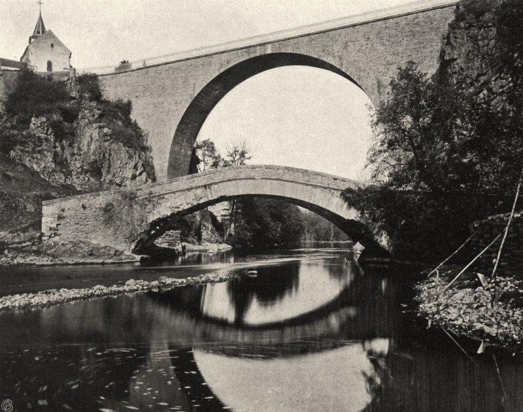 Associate Product YONNE. Pierre- Perthuis- Les ponts 1905 old antique vintage print picture