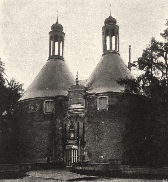 Associate Product YONNE. Saint-Fargeau- Entrée du château. SMALL. 1905 old antique print picture