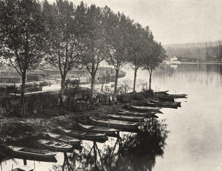 Associate Product YONNE. Villeneuve-sur-Yonne- L'Yonne. SMALL. 1905 old antique print picture