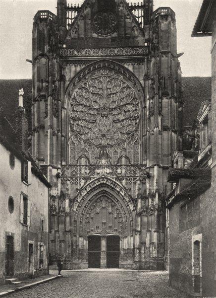 Associate Product YONNE. Sens- Cathédrale. portail nord 1905 old antique vintage print picture
