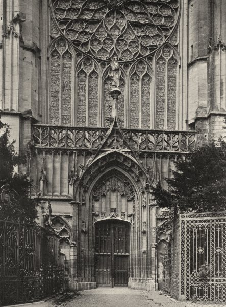 Associate Product YONNE. Sens- Cathédrale. portail sud 1905 old antique vintage print picture