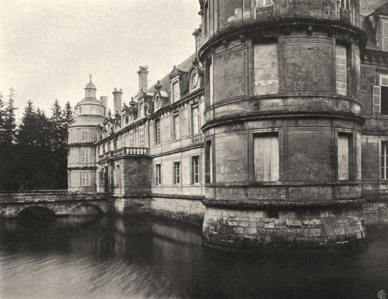Associate Product YONNE. Tanlay- Château, côté du parc 1905 old antique vintage print picture