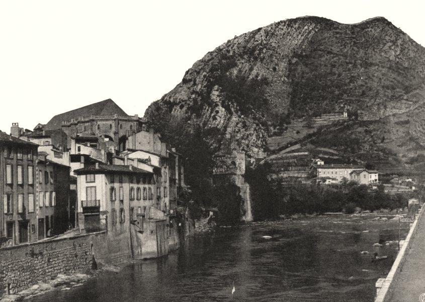 Associate Product ARIÈGE. Foix- L'Ariège 1903 old antique vintage print picture