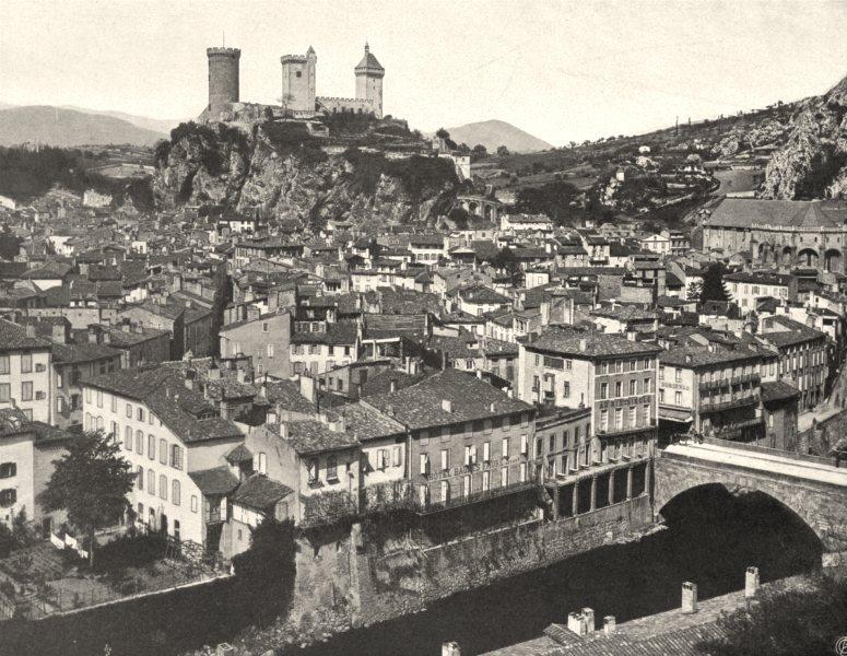 Associate Product ARIÈGE. Foix- Vue générale 1903 old antique vintage print picture