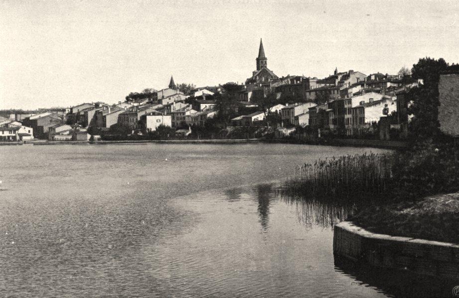 Associate Product AUDE. Castelnaudary- Le port 1903 old antique vintage print picture