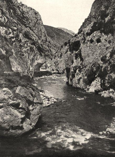 Associate Product AUDE. L'Aude dans la gorge de Pierre- Lys 1903 old antique print picture