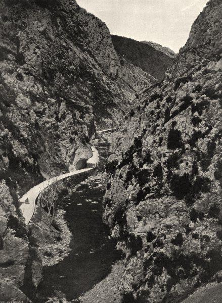 Associate Product AUDE. La route dans la gorge de Pierre- Lys 1903 old antique print picture