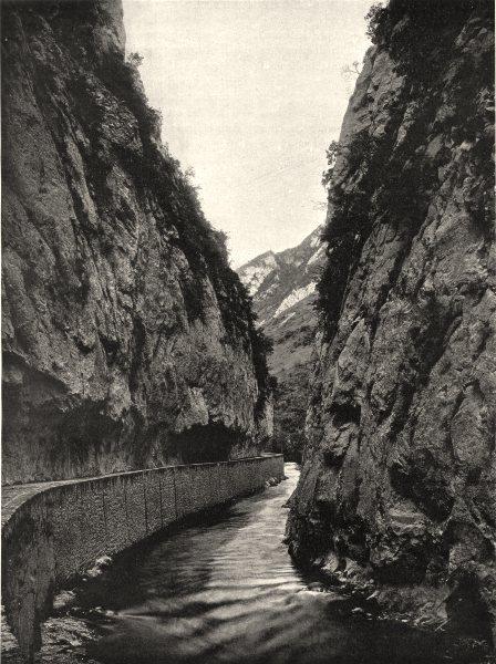 Associate Product AUDE. L'Aude dans le défilé de Saint-Georges 1903 old antique print picture