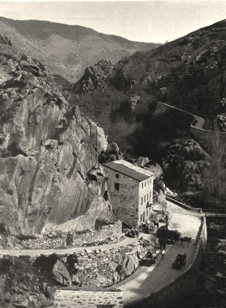 Associate Product AUDE. Haute vallée de I'Aude- Les bains d'Escouloubre 1903 old antique print