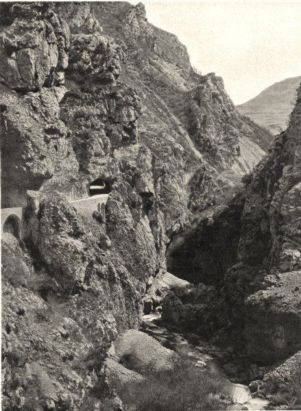 Associate Product AUDE. Vallée du Rébenty- Gorges de Joucou 1903 old antique print picture