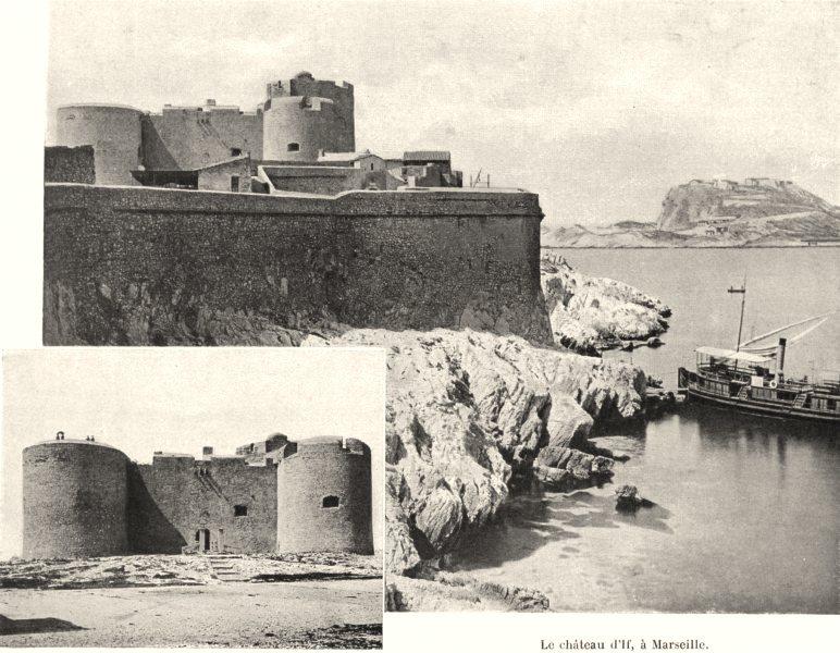 Associate Product BOUCHES-DU-RHÔNE. Le Château d'If, à Marseille 1902 old antique print picture