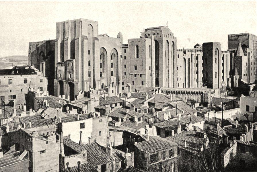 Associate Product VAUCLUSE. Le château des Papes, à Avignon 1902 old antique print picture