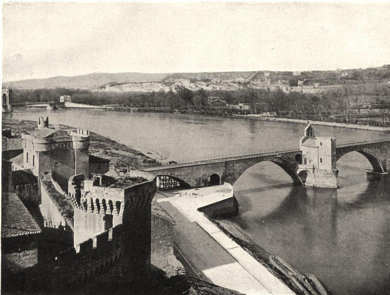 Associate Product VAUCLUSE. Le Rhône, à Avignon 1902 old antique vintage print picture