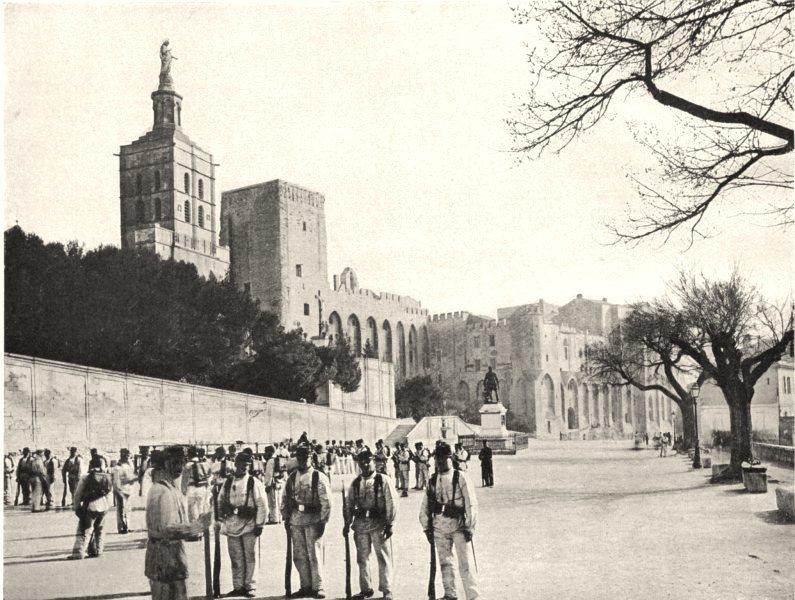 Associate Product VAUCLUSE. La place Crillon, à Avignon 1902 old antique vintage print picture