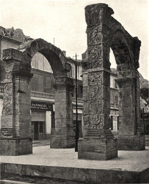 Associate Product VAUCLUSE. L'arc de triomphe, à Cavaillon 1902 old antique print picture