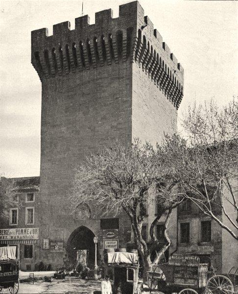 Associate Product VAUCLUSE. La porte d'Orange, à Carpentras 1902 old antique print picture