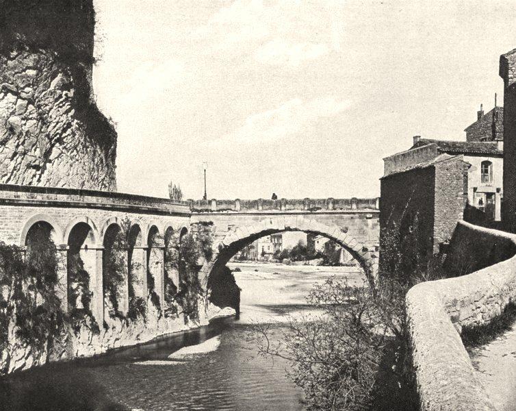 Associate Product VAUCLUSE. Le pont romain, à Vaison 1902 old antique vintage print picture