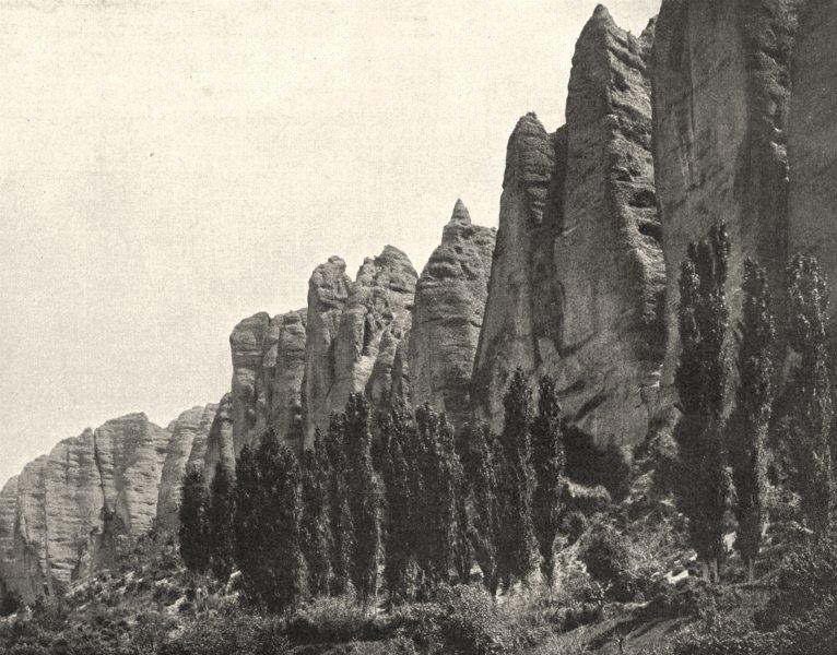Associate Product ALPES-DE-HAUTE-PROVENCE. Les rochers des Mées 1902 old antique print picture