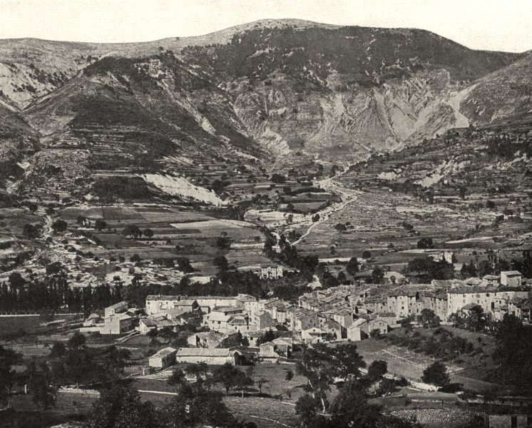 Associate Product ALPES-DE-HAUTE-PROVENCE. Vue générale d'Annot (627 mètres d'altitude)  1902