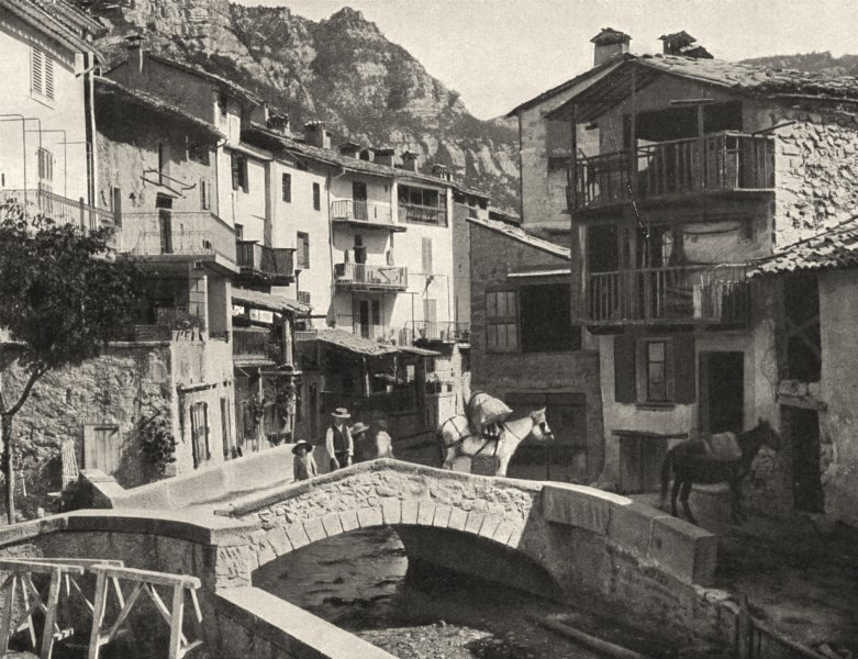 Associate Product ALPES-DE-HAUTE-PROVENCE. Une rue, à Annot 1902 old antique print picture