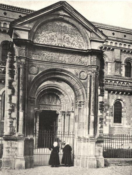 Associate Product HAUTE-GARONNE. Toulouse- Porte latérale de Saint-Sernin 1903 old antique print