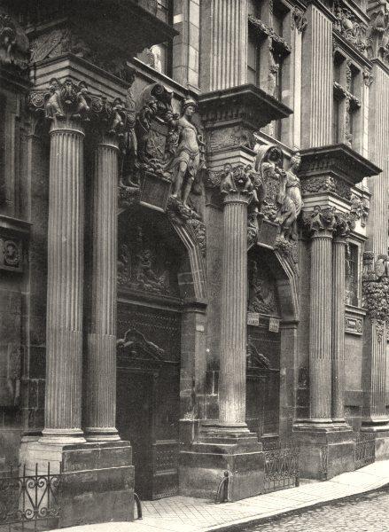 Associate Product HAUTE-GARONNE. Toulouse- Hôtel de Pierre 1903 old antique print picture