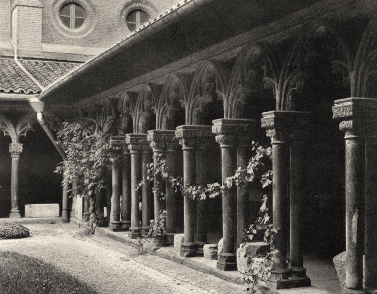 Associate Product HAUTE-GARONNE. Toulouse- Cloître du musée 1903 old antique print picture