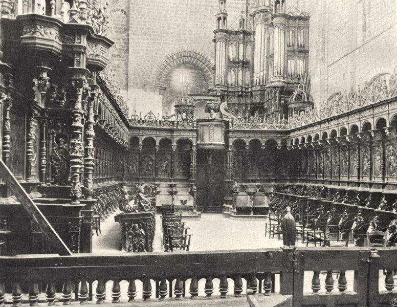 Associate Product HAUTE-GARONNE. Saint-Bertrand-de-Comminges- Stalles du choeur 1903 old print