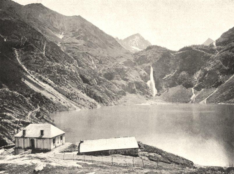 Associate Product HAUTE-GARONNE. Environs de Luchon- Lac d'Oo ou de Séculéjo 1903 old print
