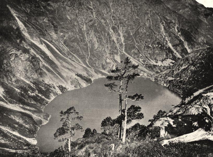 Associate Product HAUTE-GARONNE. Lac du port de Venasque 1903 old antique vintage print picture