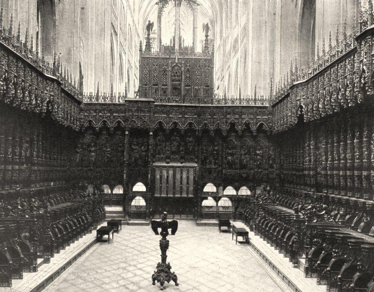 Associate Product GERS. Auch- Stalles de la cathédrale 1903 old antique vintage print picture