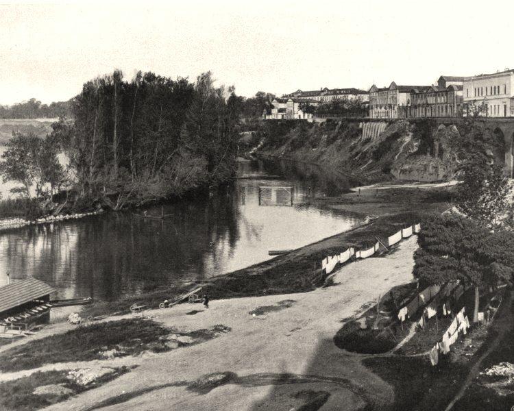 Associate Product TARN-ET-GARONNE. Montauban- Bords du Tarn 1903 old antique print picture