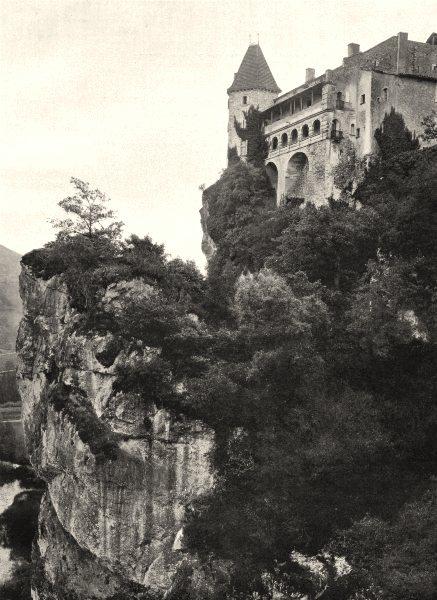 Associate Product TARN-ET-GARONNE. Bruniquel- Château 1903 old antique vintage print picture