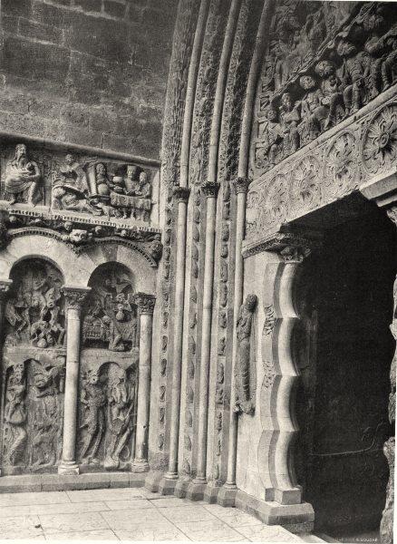 Associate Product TARN-ET-GARONNE. Moissac- Porte de I'église. détail 1903 old antique print