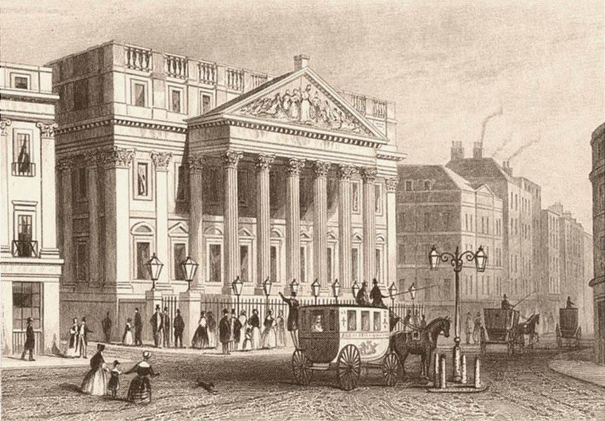 Associate Product CITY OF LONDON. The Mansion House. DUGDALE c1840 old antique print picture