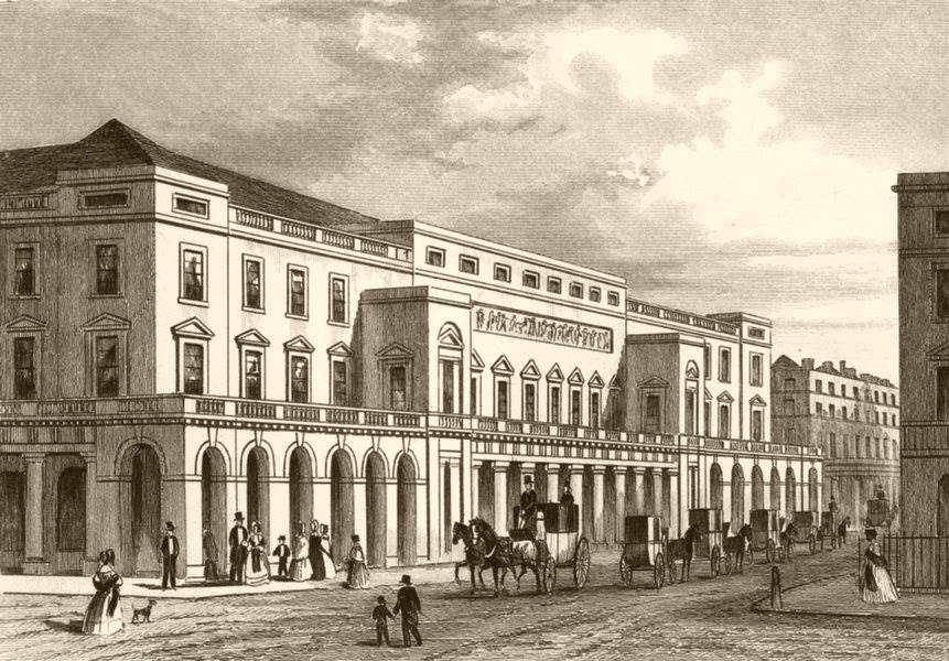 Associate Product COVENT GARDEN. Italian Opera House. DUGDALE c1840 old antique print picture