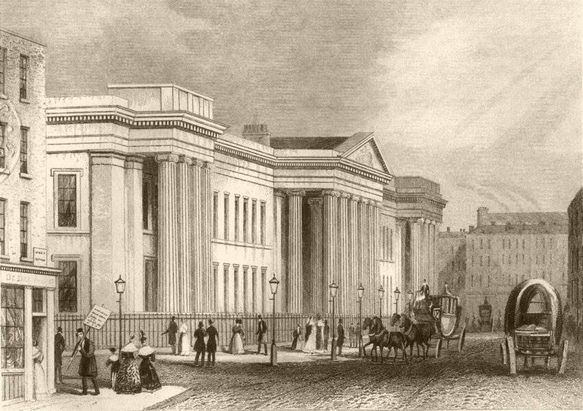 Associate Product CITY OF LONDON. New Post Office, St Martin's-le-Grand. DUGDALE c1840 old print