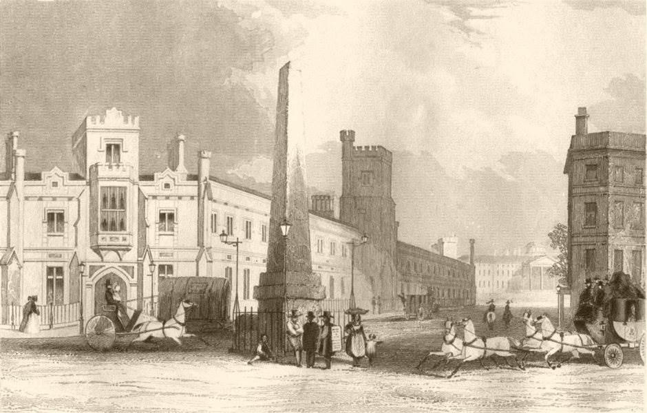 Associate Product SOUTHWARK.The blind asylum. London. DUGDALE c1840 old antique print picture