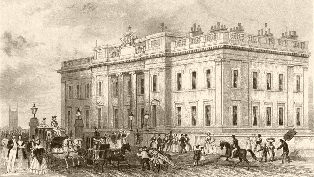 Associate Product CITY OF LONDON. Fishmongers Hall. DUGDALE c1840 old antique print picture