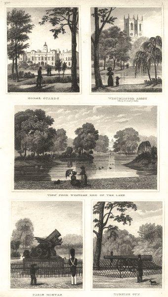 Associate Product ST JAMES'S.Horse Guards;Westminster Abbey;Park;Cadiz Mortar;Turkish Gun 1832