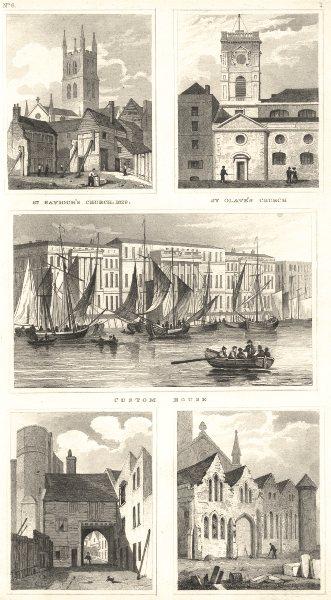 Associate Product SOUTHWARK.St Saviour St Olave Churches;Montague Close;Ladye Chapel;Custom H 1832