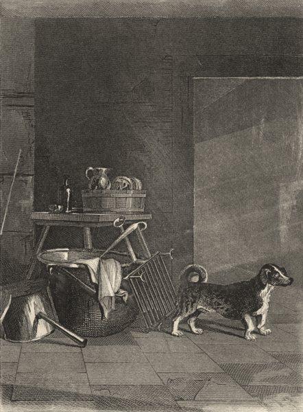 Associate Product DOGS. Turnspit (Edward Jesse) 1888 old antique vintage print picture