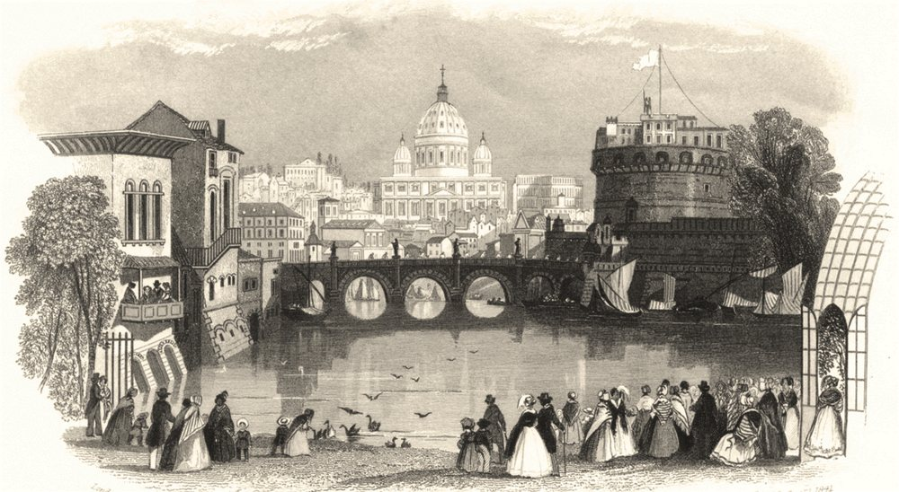 ROME. The Pictorial Model of Rome, at the Surrey Zoological Gardens 1841 print