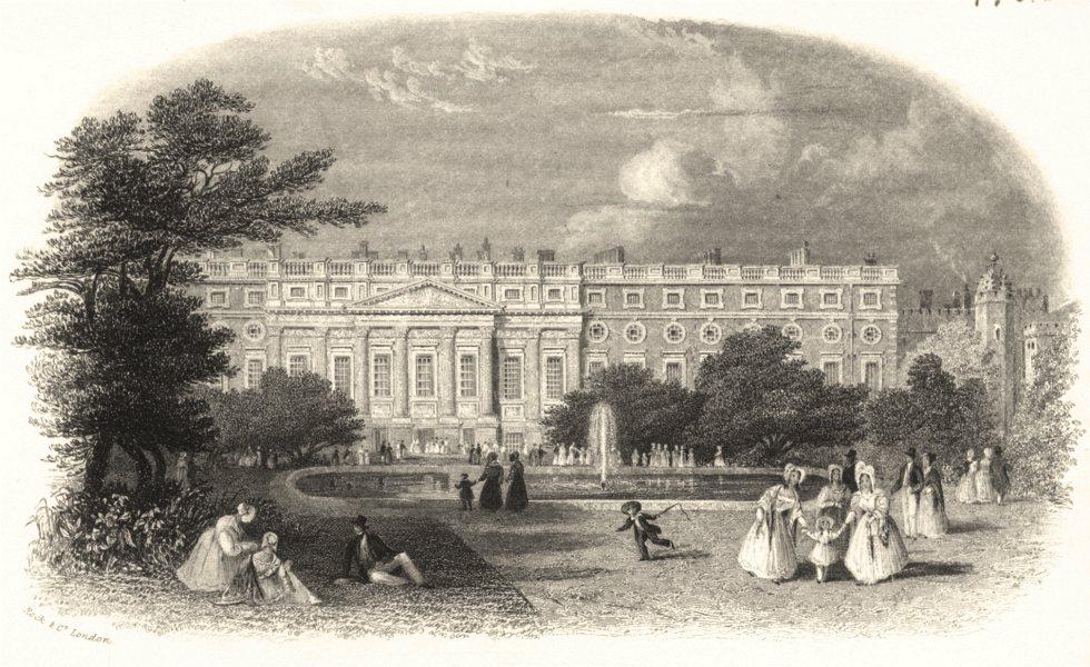 Associate Product LONDON. Hampton Court Palace c1855 old antique vintage print picture
