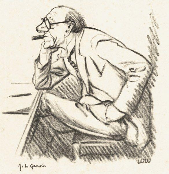Associate Product JOURNALISTS. Low Cartoon New Statesman. J. L. Garvin (James Louis)  1926 print