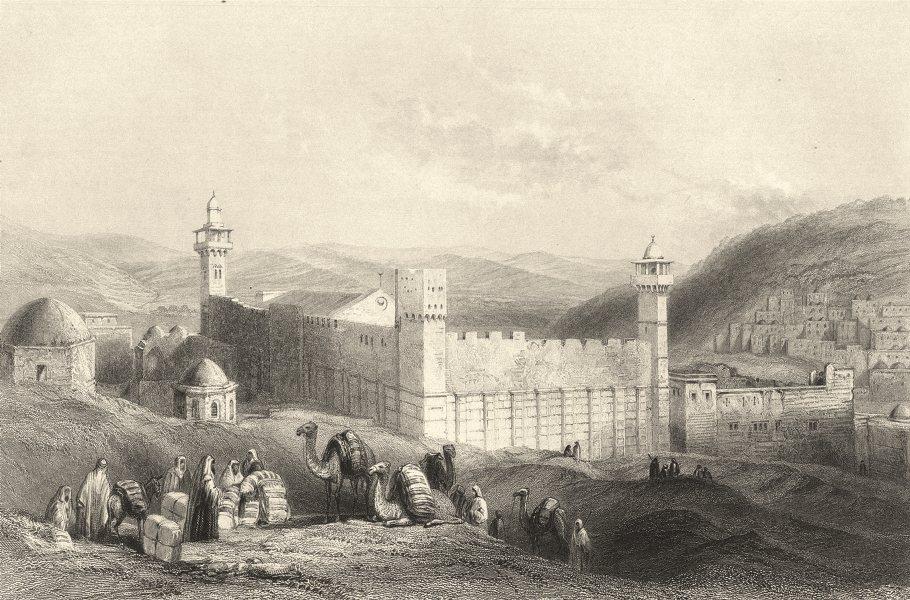 Associate Product ISRAEL. Palestine. 'Haram at Hebron'. (Bartlett) 1847 old antique print