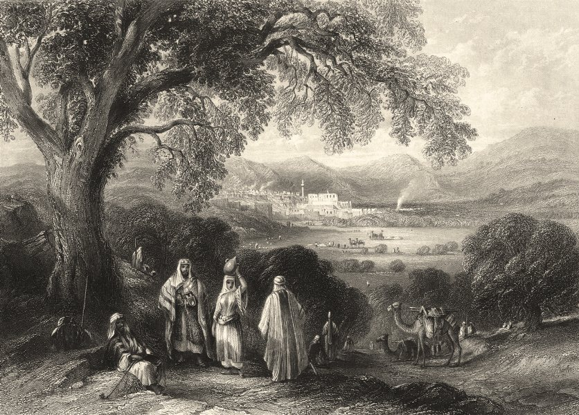 Associate Product ISRAEL. Palestine. Vale Nazareth. Figures foreground.  1847 old antique print