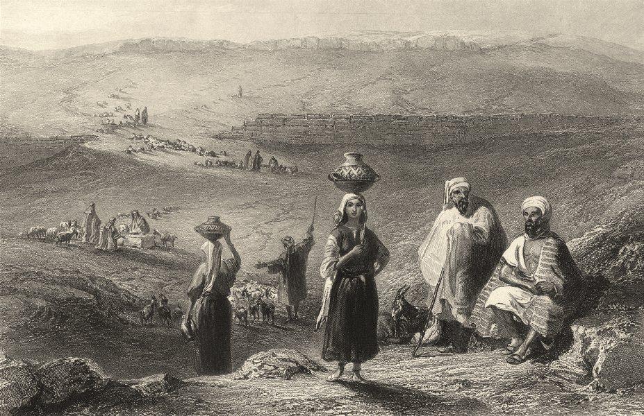 Associate Product BETHEL. Palestine. Wells & remain of the Pool at. Shepherd. (Bartlett) 1847